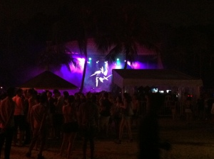 The stage at Zoukout